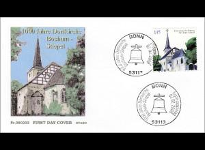 BRD Ersttagsbrief FDC Michel Nr. 2646 1000 Jahre Dorfkirche von Bochum-Stiepel