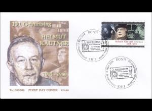 Bund BRD Ersttagsbrief FDC Michel Nr. 2654 100. Geburtstag Helmut Käutner
