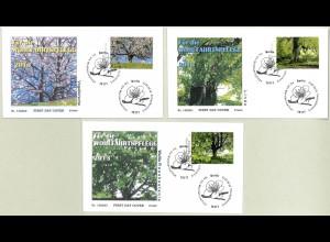 BRD Ersttagsbrief FDC Michel Nr. 2980-82 Wohlfahrt Blühende Bäume 2013