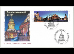 BRD Ersttagsbrief FDC Nr. 2983-84 Gendarmenmarkt Berlin nassklebend 2013