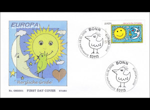 Bund BRD Ersttagsbrief FDC Michel Nr. 2662 Europa Der Brief