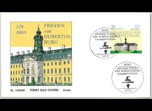 BRD Ersttagsbrief FDC Mi.-Nr. 2985 250 Jahre Frieden von Hubertusburg 2013