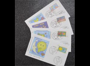 BRD Ersttagsbrief FDC Michel Nr. 2665-68 Grußmarken Europa Der Brief
