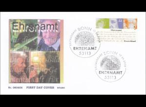 Bund BRD Ersttagsbrief FDC Michel Nr. 2674 Ehrenamt Gesichter Inschrift