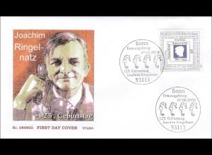 BRD Ersttagsbrief FDC Michel Nr. 2685 125. Geburtstag von Joachim Ringelnatz