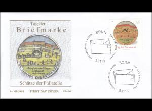 BRD Ersttagsbrief FDC MiNr. 2692 Tag der Briefmarke Schätze der Philatelie