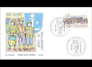 BRD Ersttagsbrief FDC Michel Nr. 2696 Brauchtum und Tradition Markt Viehhandel