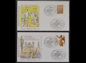 BRD Ersttagsbrief FDC Michel Nr. 2700-01 Winter Friedensengel Hl. Drei Könige