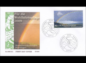 BRD Ersttagsbrief FDC MiNr. 2707-10 Wohlfahrt Himmelserscheinungen Regenbogen