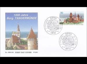 Bund BRD Ersttagsbrief FDC Michel Nr. 2712 1000 Jahre Burg Tangermünde