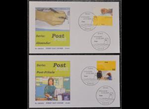 BRD Ersttagsbrief FDC Michel Nr. 2723-24 Post universal Absender Postfiliale