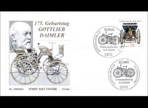 BRD Ersttagsbrief FDC Michel Nr. 2725 175. Geburtstag von Gottlieb Daimler