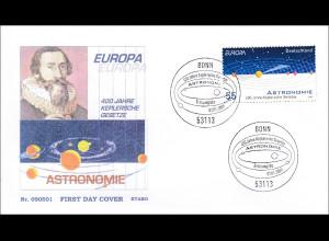 BRD Ersttagsbrief FDC Michel Nr. 2732 Europa Astronomie Keplerschen Gesetze