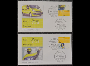 BRD Ersttagsbrief FDC Michel Nr. 2733-34 Post universal Transport Zustellung