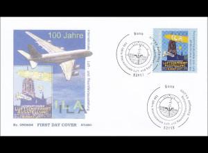 BRD Ersttagsbrief FDC MiNr. 2740 Internationale Luft- und Raumfahrtausstellung