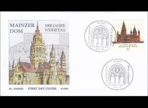 BRD Ersttagsbrief FDC MiNr. 2752 1000. Jahrestag der Weihe des Mainzer Doms