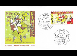 BRD Ersttagsbrief FDC MiNr. 2756 Für uns Kinder Cowboy Indianerhäupling Tom-Tom