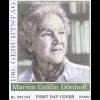 BRD Ersttagsbrief FDC Michel Nr. 2766 100. Geburtstag von Marion Gräfin Dönhoff