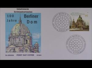 Bund BRD Ersttagsbrief 2005 FDC Michel Nr. 2446 100 Jahre Berliner Dom