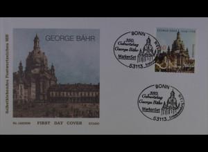 Bund BRD Ersttagsbrief FDC 1. März 2016 Michel Nr. 3224 Geburtstag George Bähr