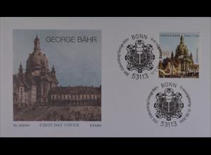 Bund BRD Ersttagsbrief FDC 1. März 2016 Michel Nr. 3219 Geburtstag George Bähr