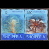 Albanien 2015 Michel Nr. 3517-18 Unterwasserfora undFauna Seestern Algen Quallen
