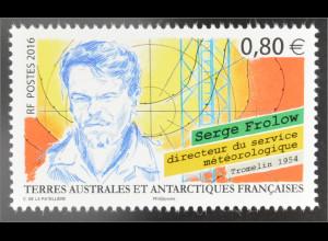 Französische Gebiete in der Antarktis TAAF 2016 Nr. 915 Serge Prolow Meteorologe
