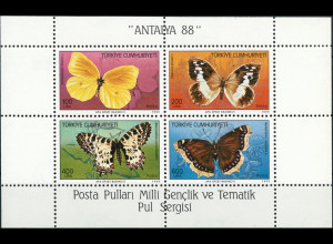 Türkei Block 26 Schmetterlinge Zitronenfalter Trauermantel