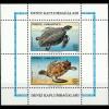 Türkei Block 28 Zwei Meeresschildkröten u.a. Schuppenschildkröte
