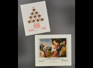 Italien Italy 2015 MiNr.3865-66 Weihnachten Madonna mit Kind Heilige Katharina