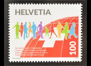 Schweiz Helvetia 2016 Michel Nr. 2438 100 Jahre Auslandschweizer Organisation