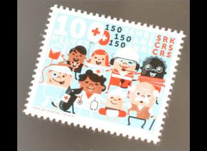Schweiz 2016 Michel Nr. 2439 150 Jahre Schweizerisches Rotes Kreuz RK