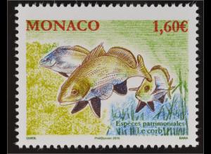 Monako Monaco 2016 Michel Nr. 3280 Einheimische Tierarten Meerrabe Fisch Fauna