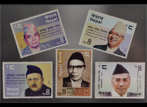 Nepal 2015 Nr. 1208+1210-14 Persönlichkeiten Shresta Rijal Parajuli Pant Singh