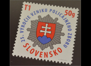 Slowakei Slovakia 2016 Michel Nr. 781 25 Jahre Gründung der Polizeikräfte