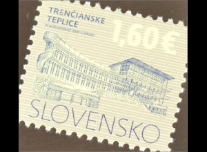 Slowakei Slovakia 2016 Nr. 783 Freimarke Kulturerbe der Slowakei Trecianske