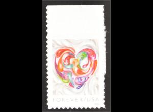 USA 2016 Michel Nr. 5214 Paper Heart Quilt Tolles farbenreiches Herz