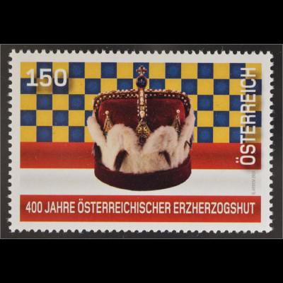 Österreich 2016 Nr. 3251 400 Jahre österreichischer Erzherzogshut Krone Schmuck