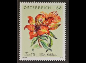 Österreich 2016 Nr. 3252 Feuerlilie Lilium Bulbiferum Gartenblume Flora Botanik