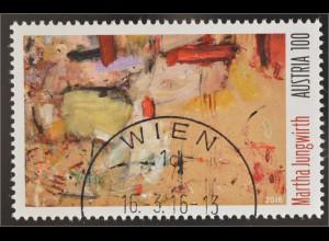 Österreich 2016 Nr. 3255 Martha Jungwirth Malerin Poesie in Farbe Gemälde Kunst