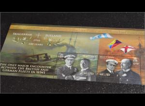 Insel Man Isle of Man 2016 Block 107 100 Jahre Schlacht von Jütland 1. Weltkrieg