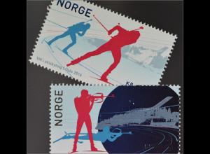 Norwegen Norway 2016 Nr. 1904-05 Biathlon WM Wintersport Langlauf Schießen