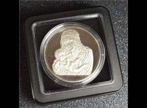 Geschenk zur Geburt Medaille in reinem Silber 40 mm Durchmesser inklusive Etui
