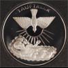 Geschenk zur Taufe Medaille in Silber 32 mm Durchmesser Tauftaler mit Etui