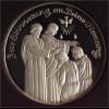 Geschenk zur Firmung Medaille in reinem Silber 32 mm Durchmesser mit Etui