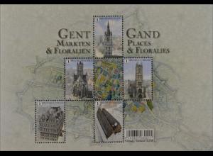 Belgien 2016 Block 199 Gent Marktplätze & Floralien Gand Places & Floralies