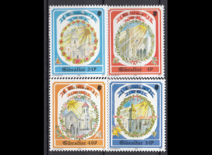 Gibraltar 1992 MiNr. 650-53 Weihnachten Kirchen Herz-Jesu-Kirche Kathedrale