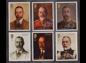 Jersey 2016 Michel Nr. 2002-07 80. Todestag von König Georg V. Portraits Gemälde
