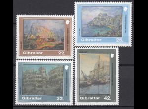 Gibraltar 1991 Michel Nr. 624-27 Gemälde Gustavo Bacarisas Elena Mifsud
