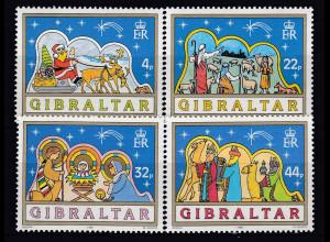 Gibraltar 1989 MiNr. 586-89 Weihnachten Hirten Weihnachtsmann Heilige Familie